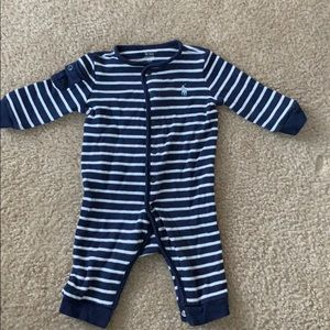 Ralph Lauren Navy & White One Piece 3mo ✨